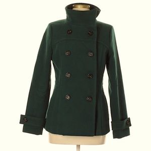 H&M Forest Green Pea Coat size: 12